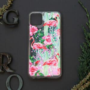 iphone 11 PRO MAX glitter, flamingo farvet