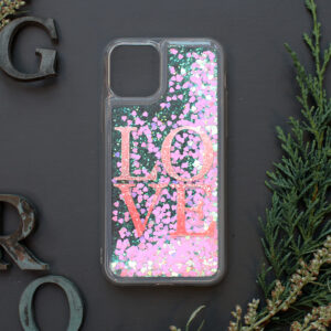 iphone 11 PRO MAX glitter, LOVE farvet