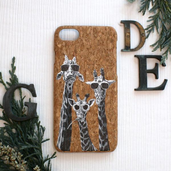 iphone SE, 7, 8 cork, giraf