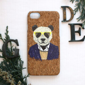 iphone SE, 7, 8 cork, panda