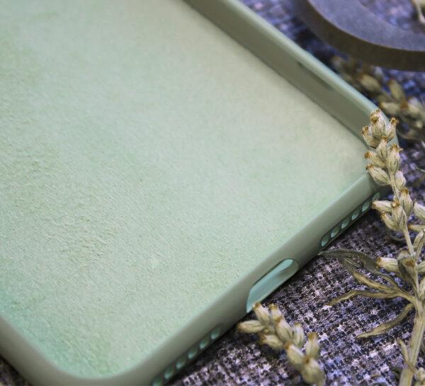 iphone SE, 7, 8 TPU, close-up grøn