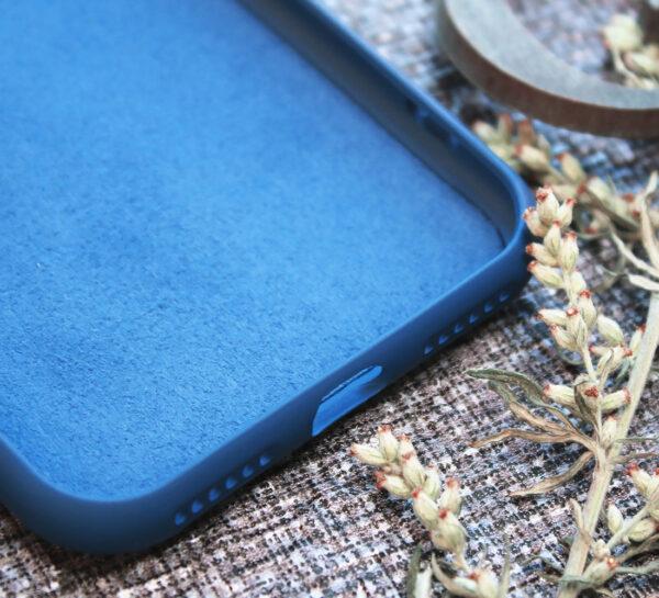 iphone SE, 7, 8 TPU, close-up blå