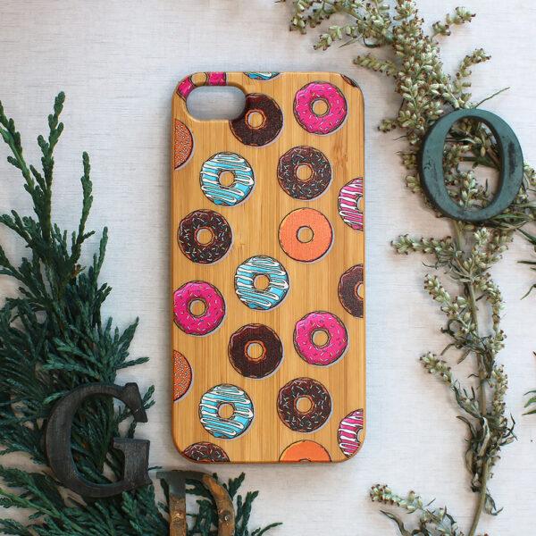 iphone SE, 7, 8 træ, donuts