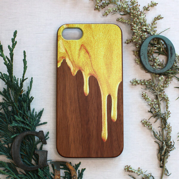 iphone SE, 7, 8 træ, flyende maling
