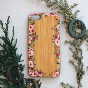iphone SE, 7, 8 træ, blomster