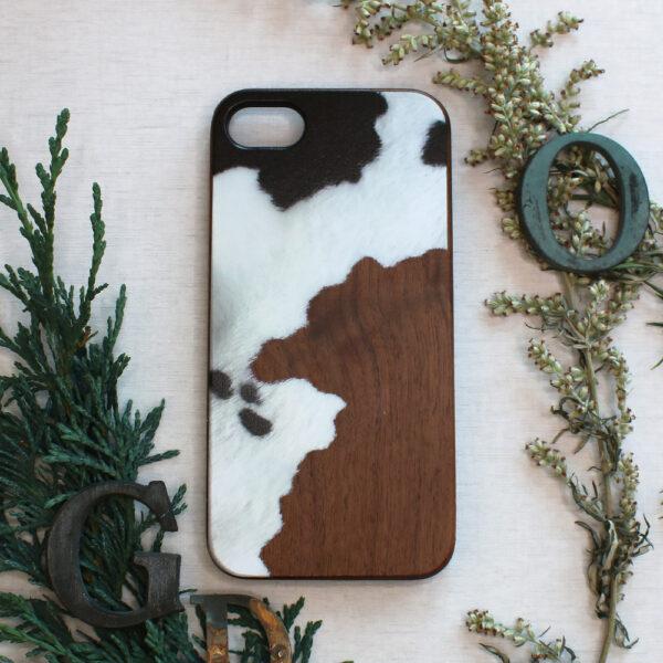 iphone SE, 7, 8 træ, ko skin
