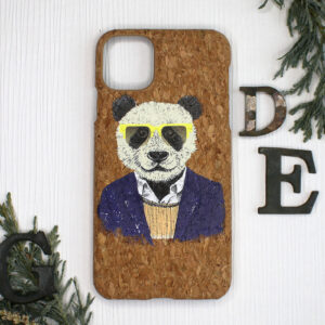 iphone 11 cork, panda