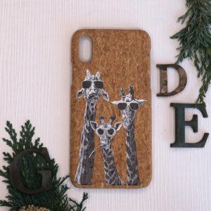 iphone X/XS Cork, giraf