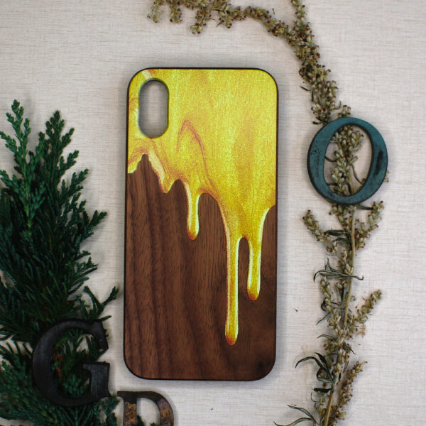 iphone X/XS Træ med flyende maling