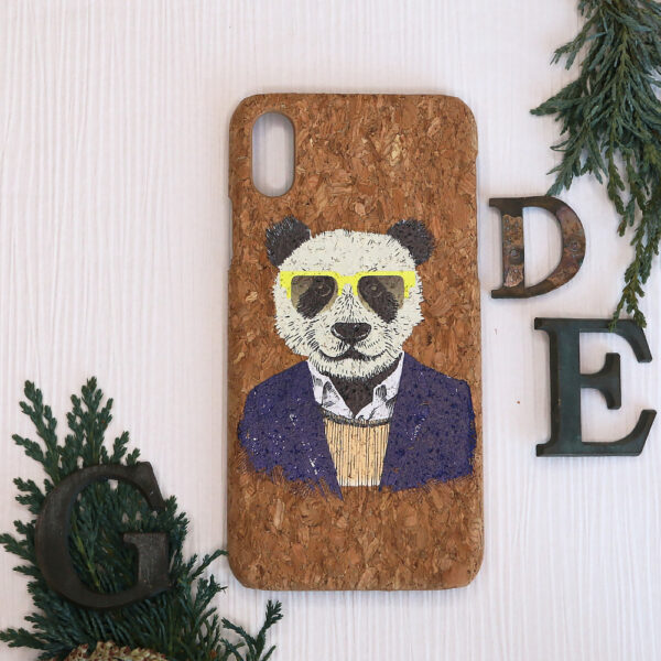 iphone X/XS Cork, panda