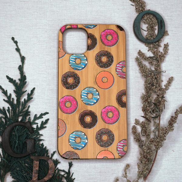 iphone 11 træ, donuts